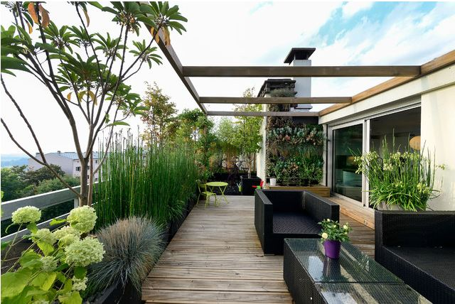 75 inspiring rooftop terrace design ideas digsdigs for Terrazze arredate con piante