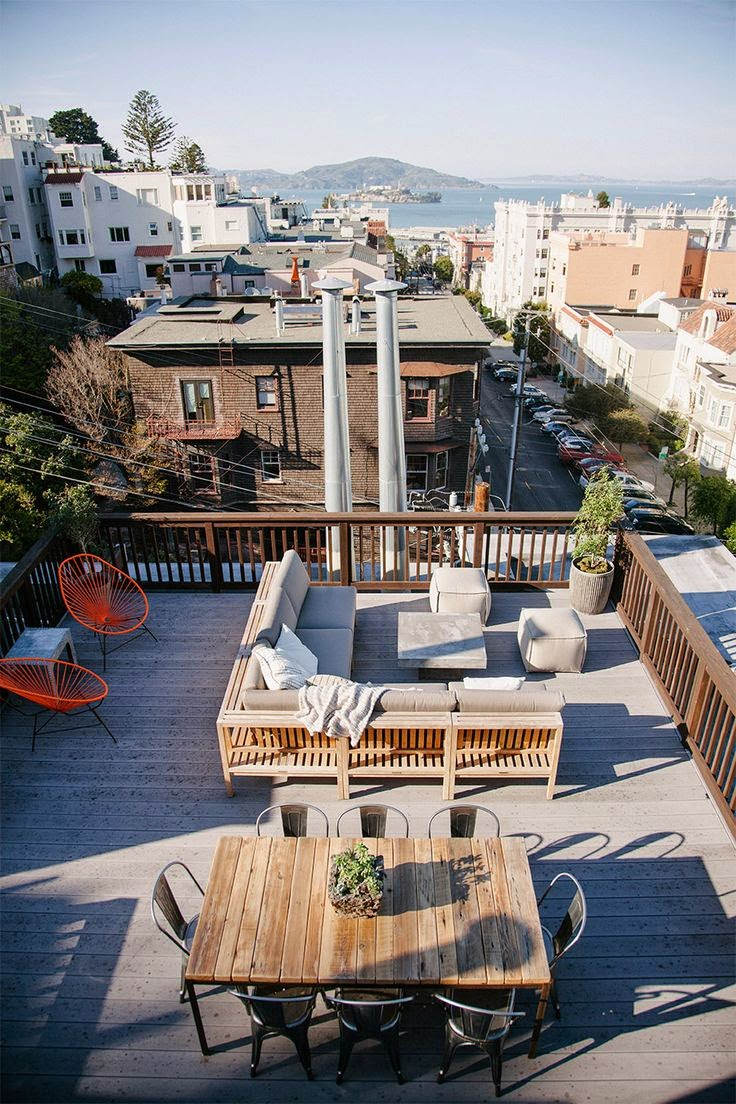 75 inspiring rooftop terrace design ideas digsdigs for Terrace with roof