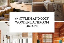 65 stylish and cozy wooden bathroom designs cover