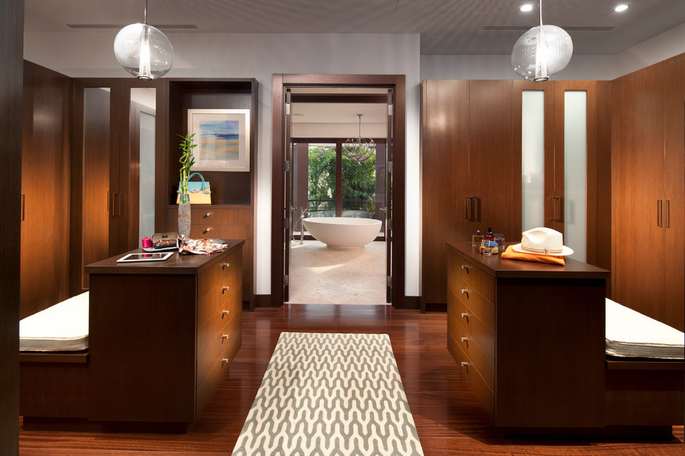 A Contemporary Master Closet Design For HIM And HER