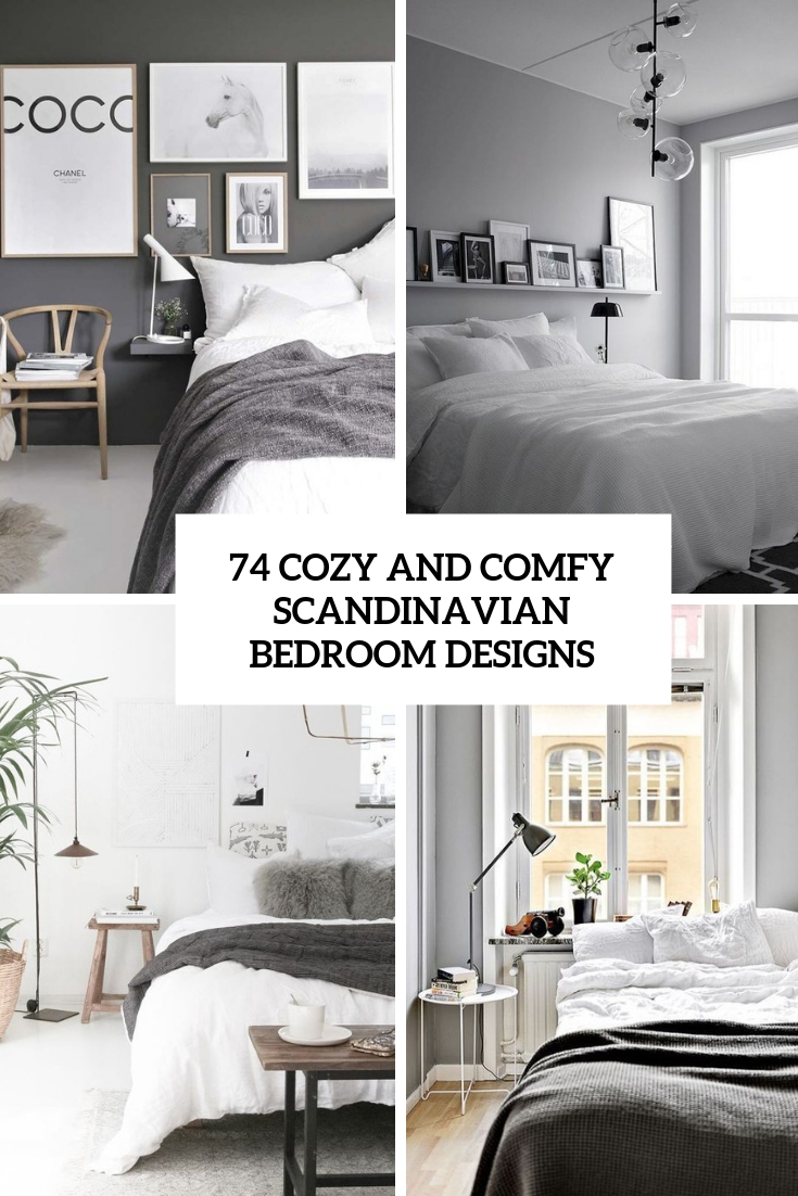 74 Cozy And Comfy Scandinavian Bedroom Designs