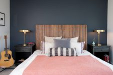 choosing a good looking timber headboard is a smart decision for a boys room