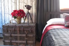 this eclectic room with vintage pieces looks quite masculine