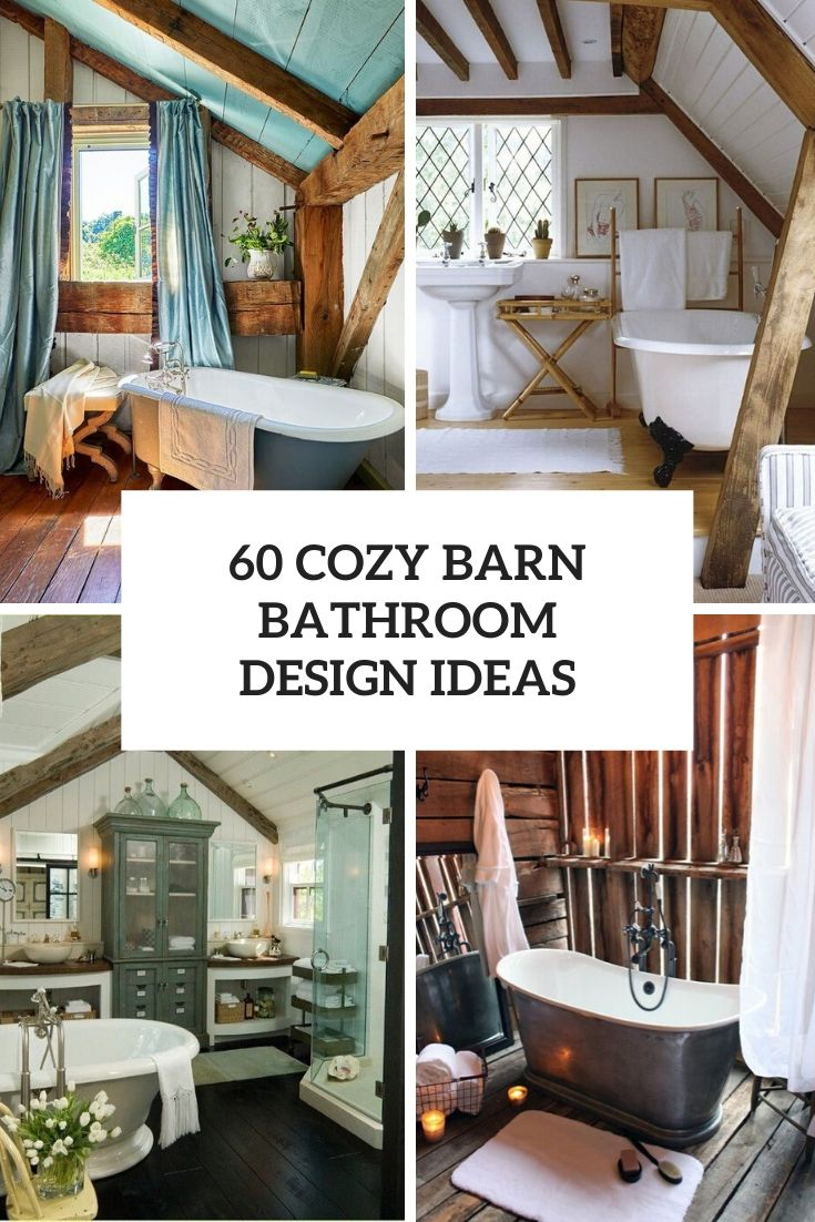 60 Cozy Barn Bathroom Design Ideas