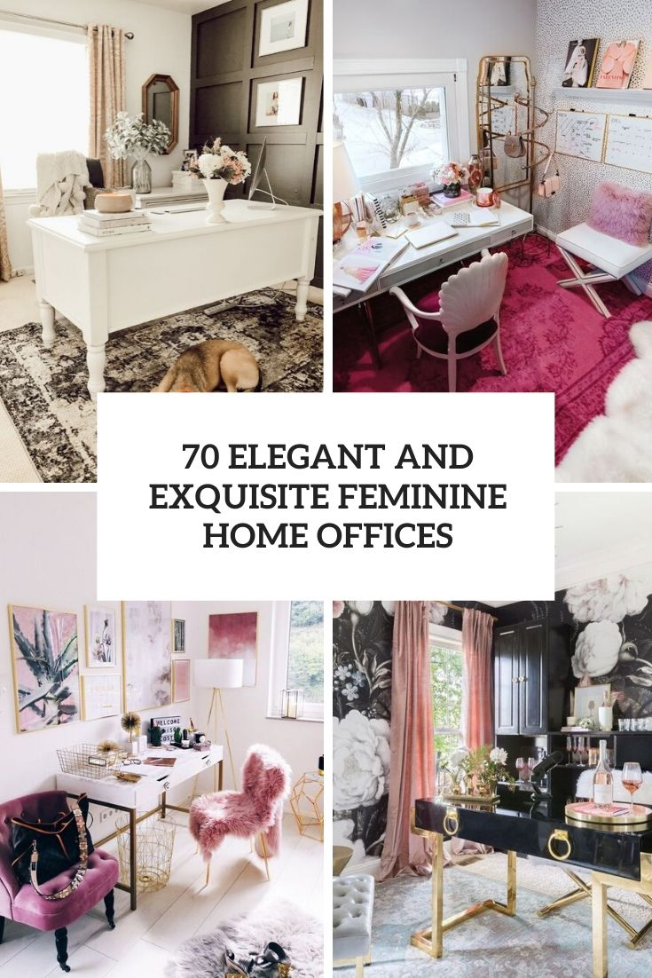 elegant and exquisite feminine home offices cover