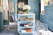 a cute gorgeous walk-in closet design
