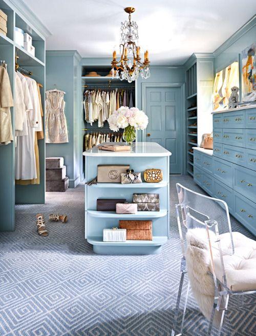 a cute gorgeous walk in closet design