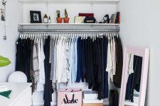 a cute small closet design
