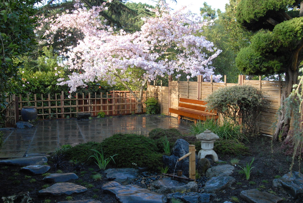 Adding several blooming trees is quite important because we all know how Sakura is popular in Japanese gardens.