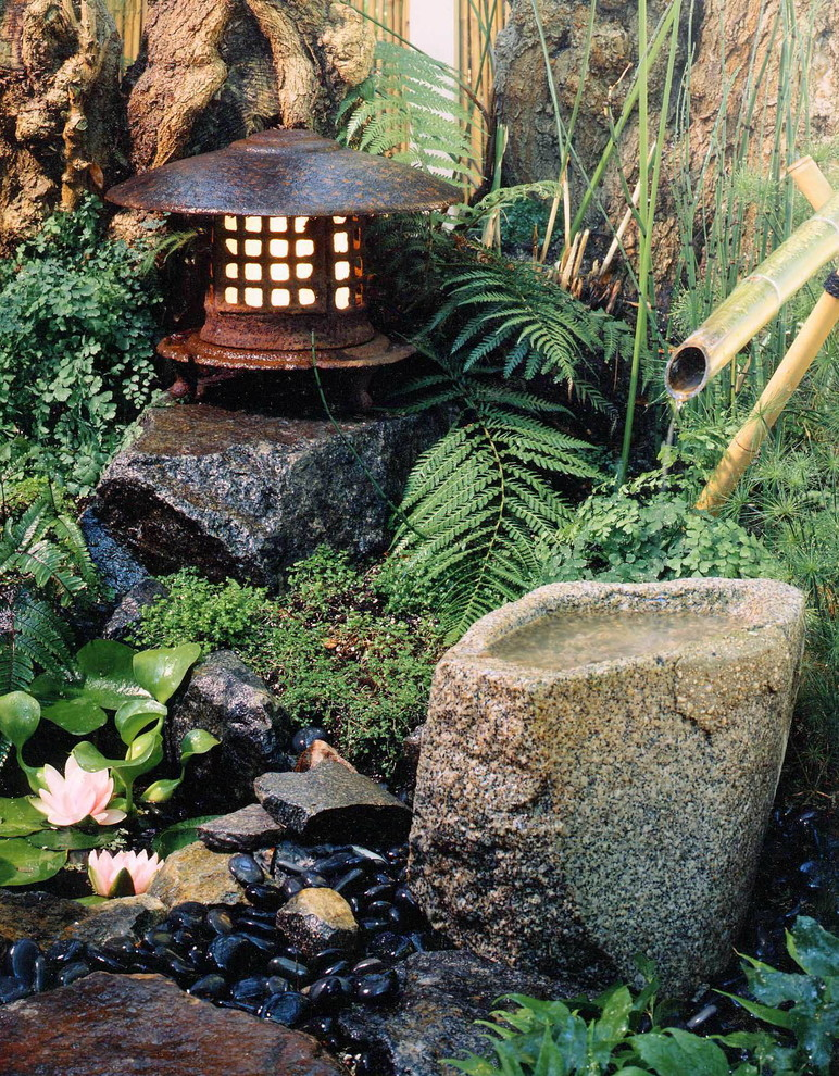 The sound of flowing or falling water adds to the soothing nature of any  Japanese-