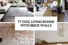 77 cool living rooms with brick walls cover