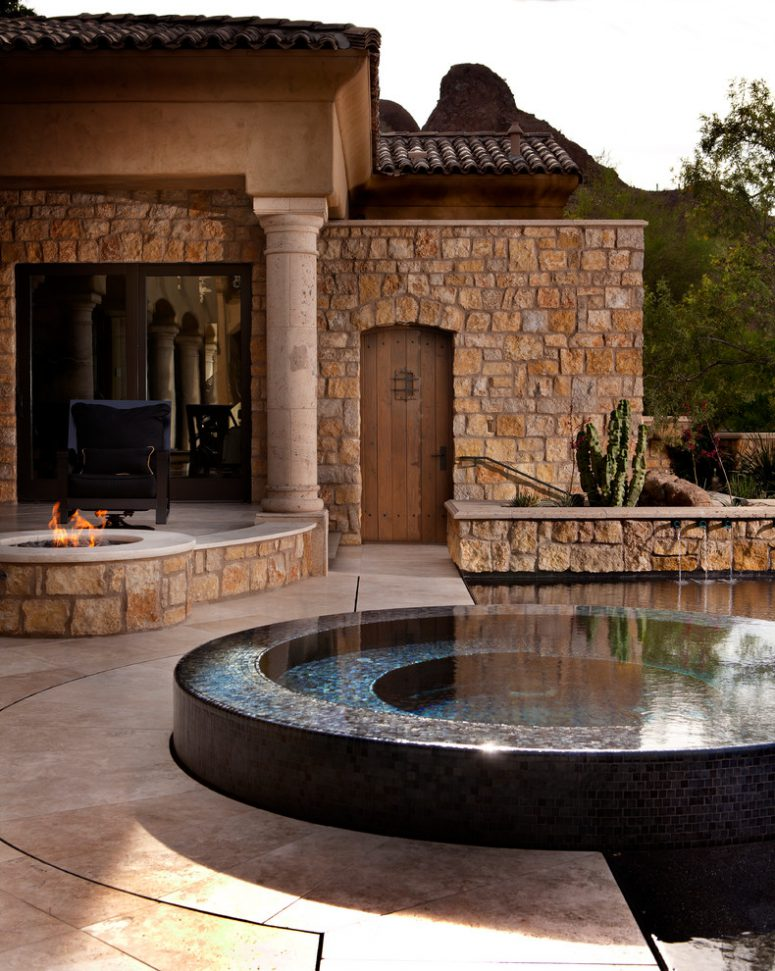 65 awesome garden hot tub designs digsdigs for Hot tub designs and layouts