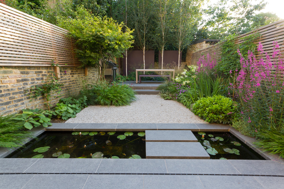 adding a pond to an small urban garden might be a great way to spice things - Small Yard Design Ideas