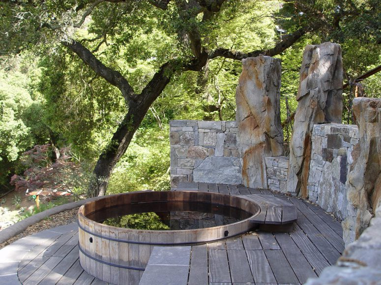 65 awesome garden hot tub designs digsdigs. Black Bedroom Furniture Sets. Home Design Ideas