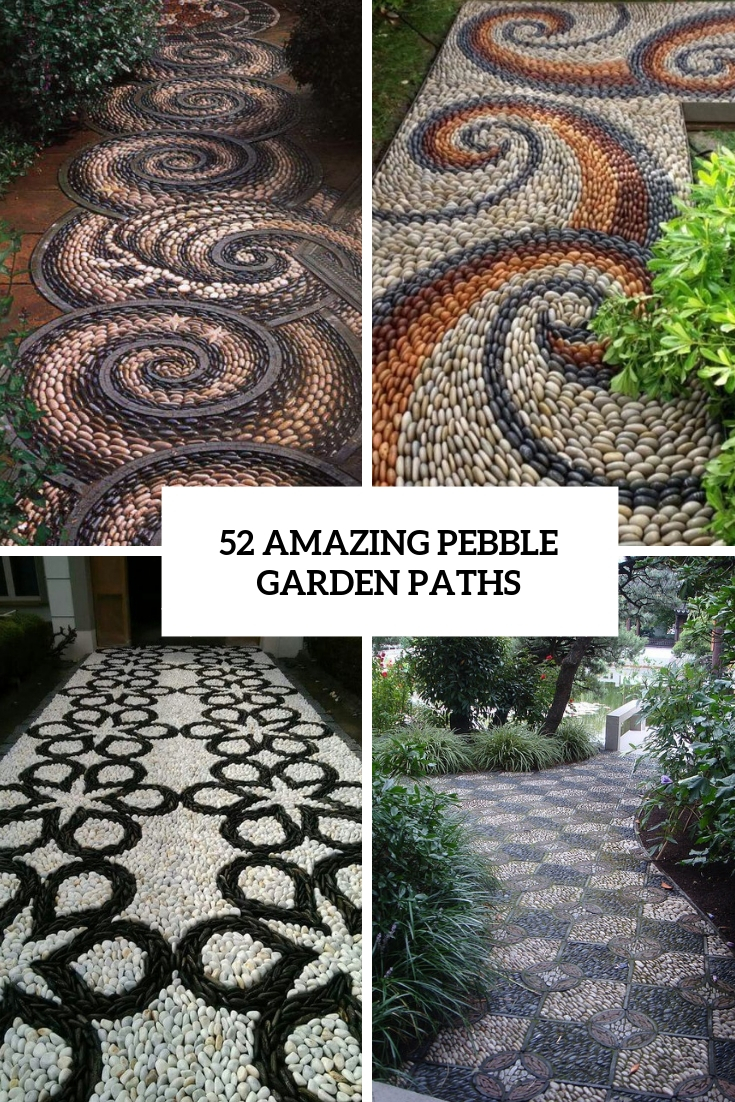 52 Amazing Pebble Garden Paths