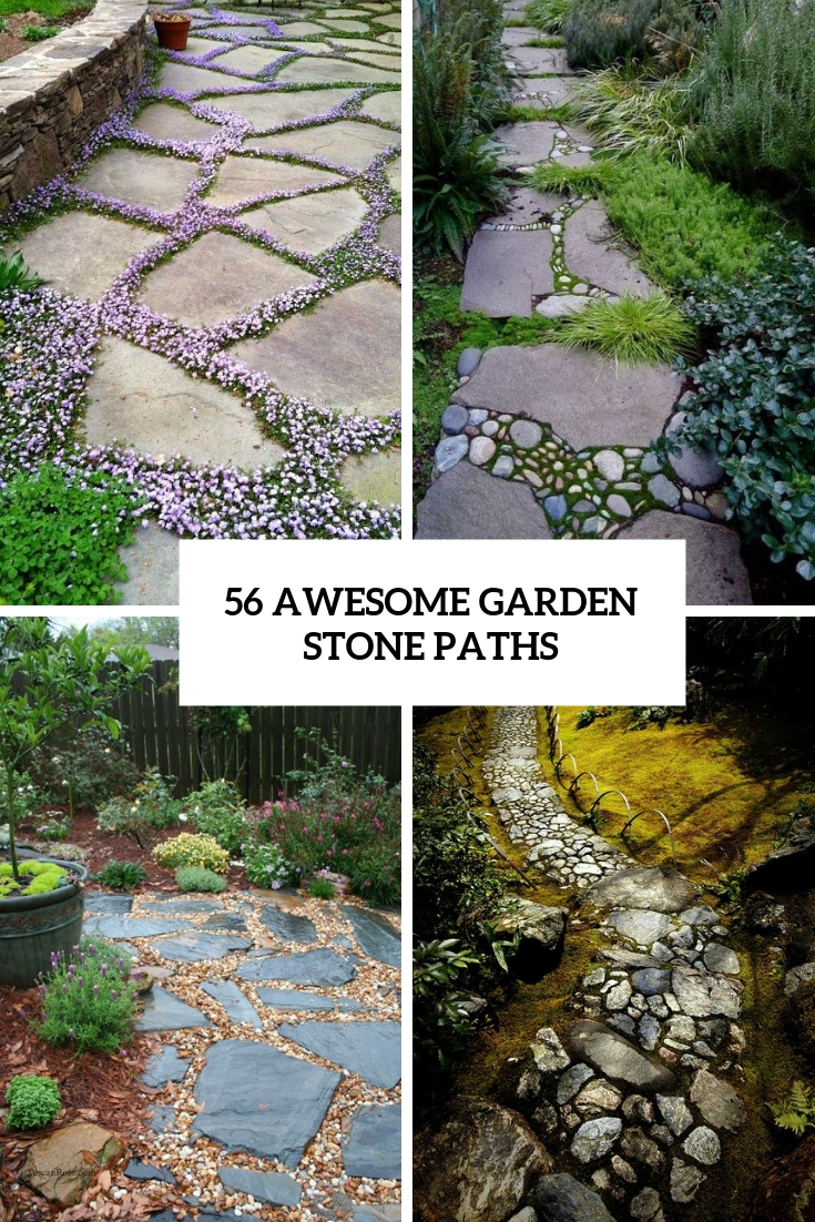 awesome garden stone paths cover