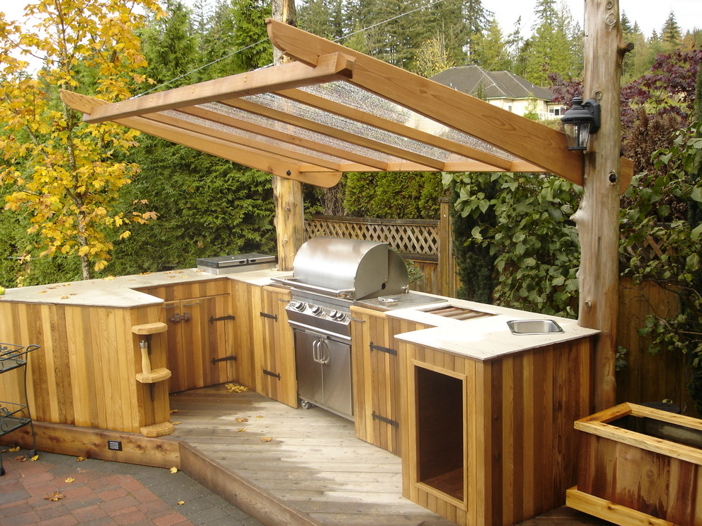 patchwork tiles to make your outdoor kitchen more interesting and fun