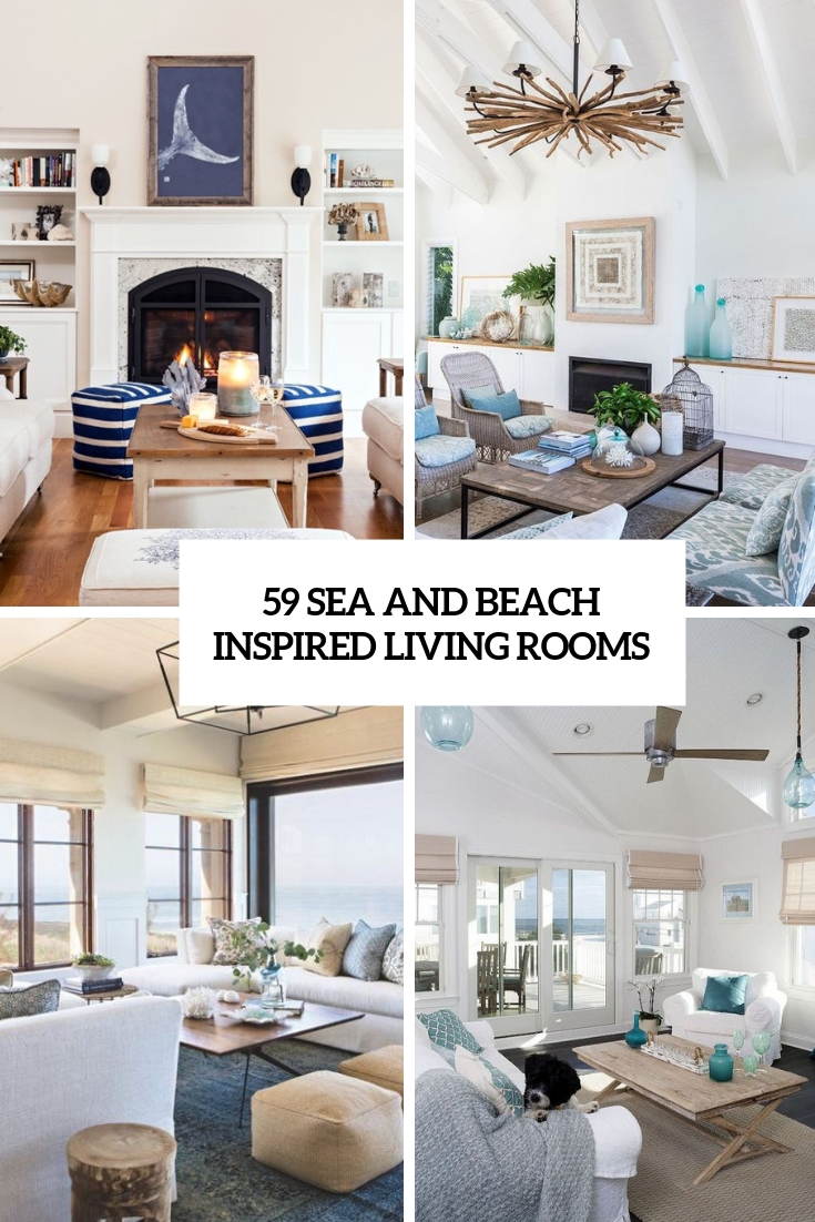 sea and beach inspired living rooms cover