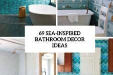 69 sea-inspired bathroom decor ideas cover