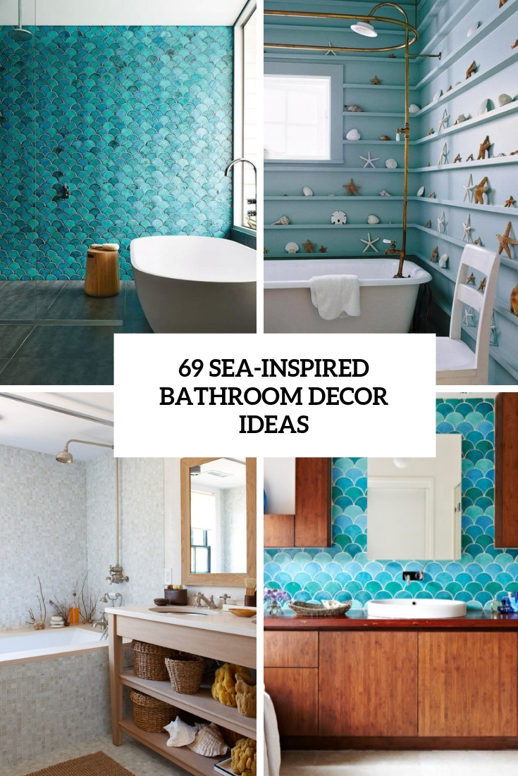 69 Sea-Inspired Bathroom Décor Ideas - DigsDigs