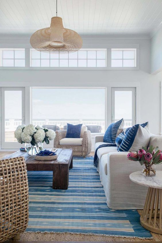 59 Sea And Beach Inspired Living Rooms