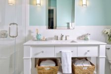 turquoise shade is perfect for a bathroom