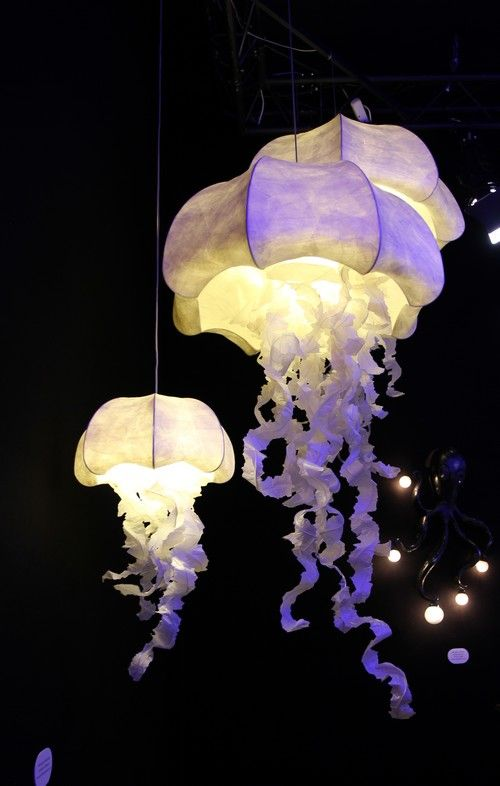 beautiful jellyfish chandeliers are lovely and bold and look gorgeous and seaside-like