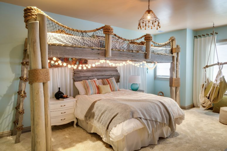 Sensational 49 Beautiful Beach And Sea Themed Bedroom Designs Digsdigs Largest Home Design Picture Inspirations Pitcheantrous