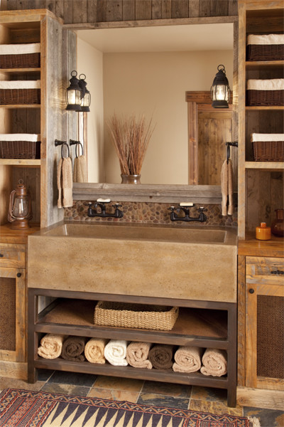 66 Cool Rustic Bathroom Designs Digsdigs