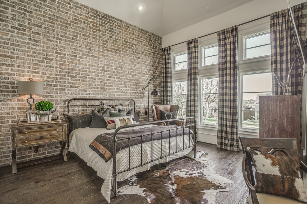 cozy rustic bedroom design ideas faux cowhide rug and plaid curtains are also perfect things to add in rustic interiors - Rustic Interior Design Ideas