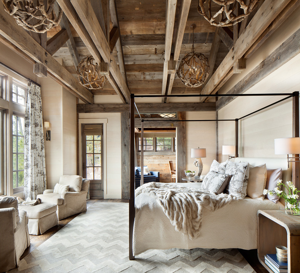 Spectacular cozy rustic bedroom design ideas It us a cool idea to make light fixtures from driftwood or twigs The project won