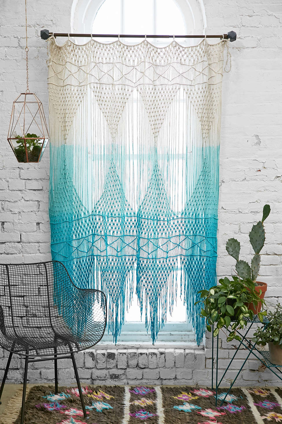 macrame window treatment 65 refined boho chic bedroom designs digsdigs 6887