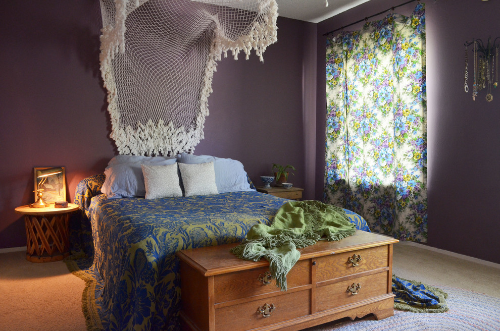 65 refined boho chic bedroom designs digsdigs for Blue purple bedroom ideas
