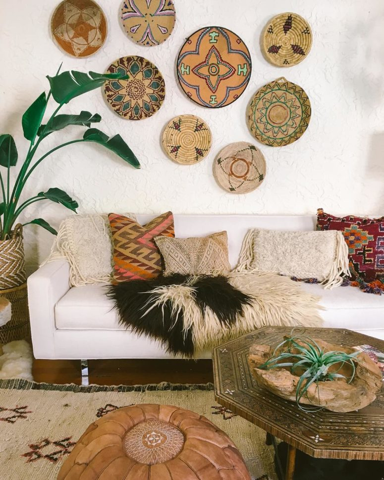 Bringing African and Moroccan flavors to boho interiors is also an interesting idea that works.