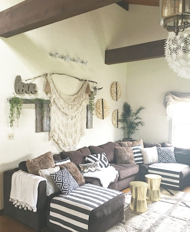 Mixing Boho, Rustic And Glam Elements Works Great For Living Rooms.
