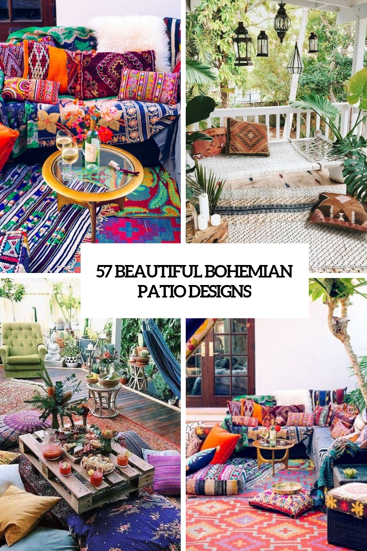 57 Beautiful Bohemian Patio Designs