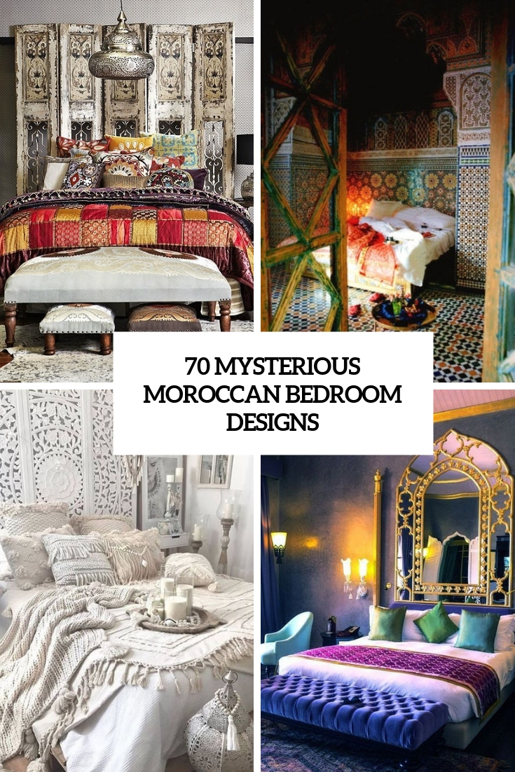 70 Mysterious Moroccan Bedroom Designs