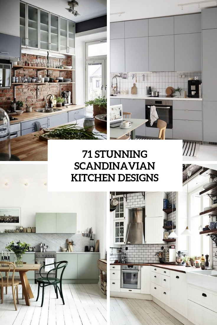 71 Stunning Scandinavian Kitchen Designs