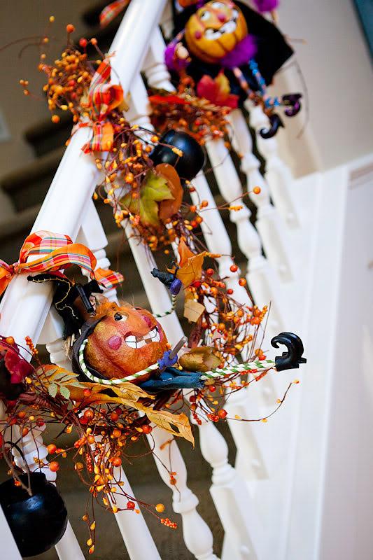 cozy fall staircase decor ideas