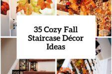 30 cozy fall staircase decor ideas