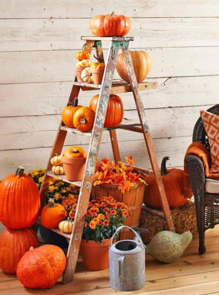 This is a great example showing how to make an easy Fall display.