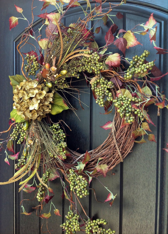 Grapevine could also be used for a holiday door decor.