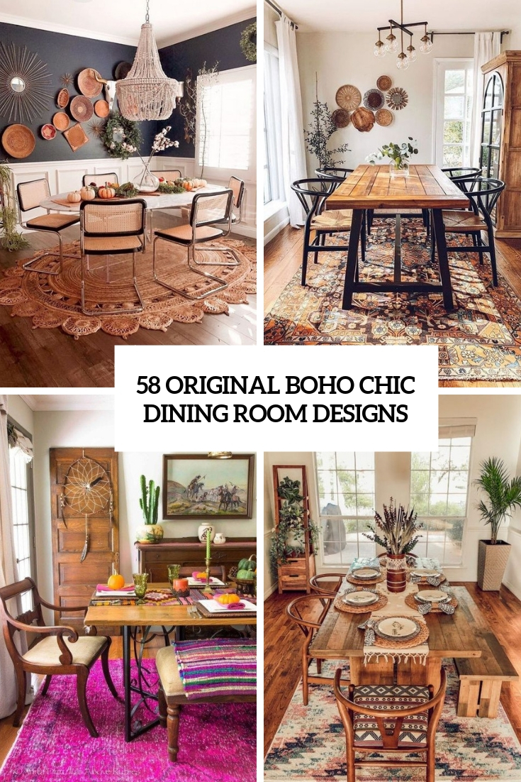 58 Original Boho Chic Dining Room Designs