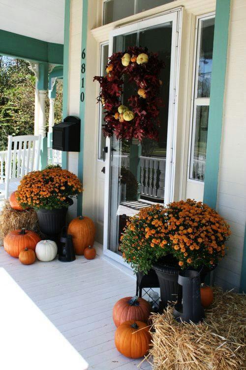 pretty autumn porch decor ideas