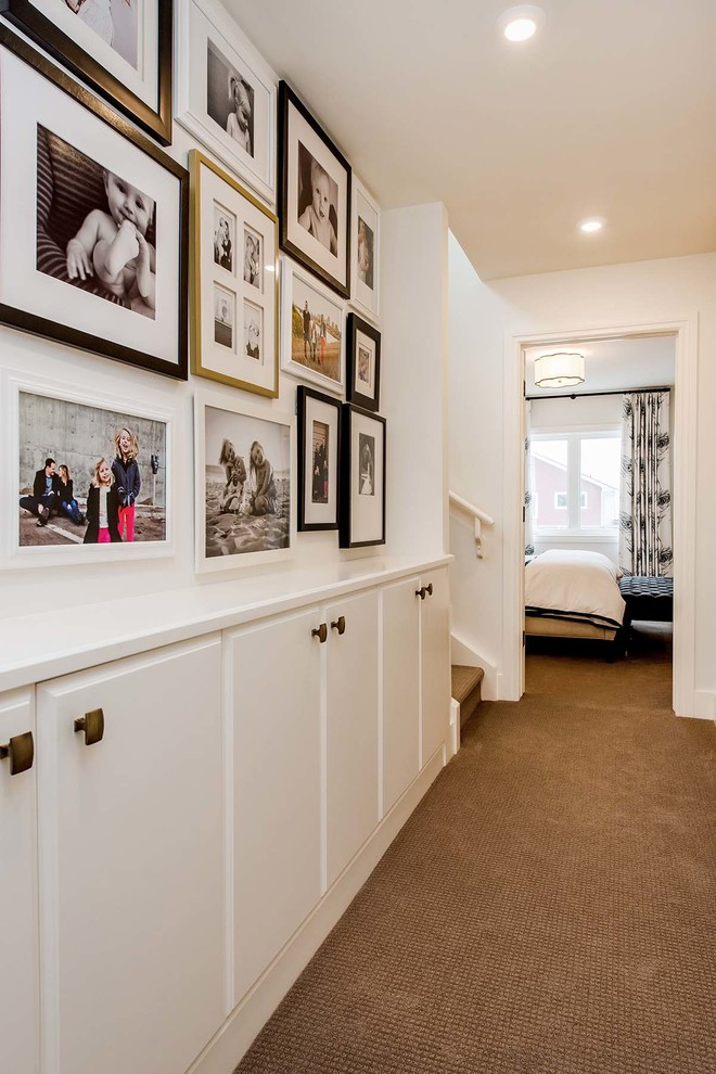 75 clever hallway storage ideas digsdigs for Pictures for hallway walls