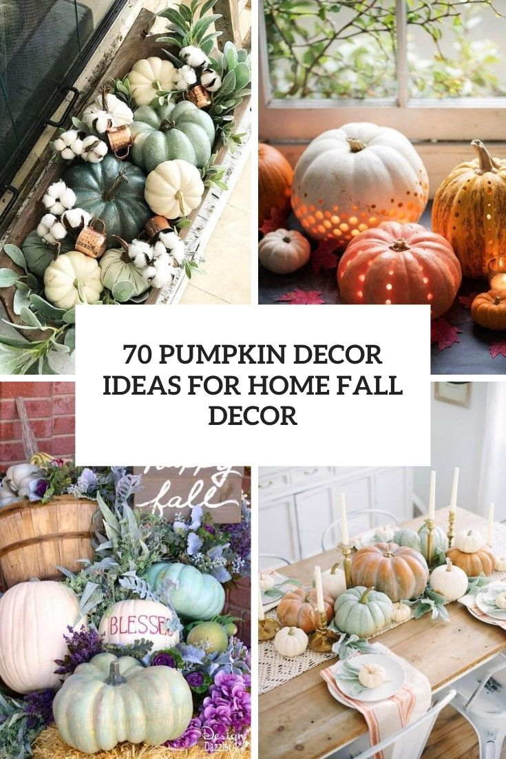 70 Pumpkin Décor Ideas For Home Fall Décor