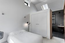 a wardrobe wall could become a room divider if you wish to combine your bedroom with a bathroom