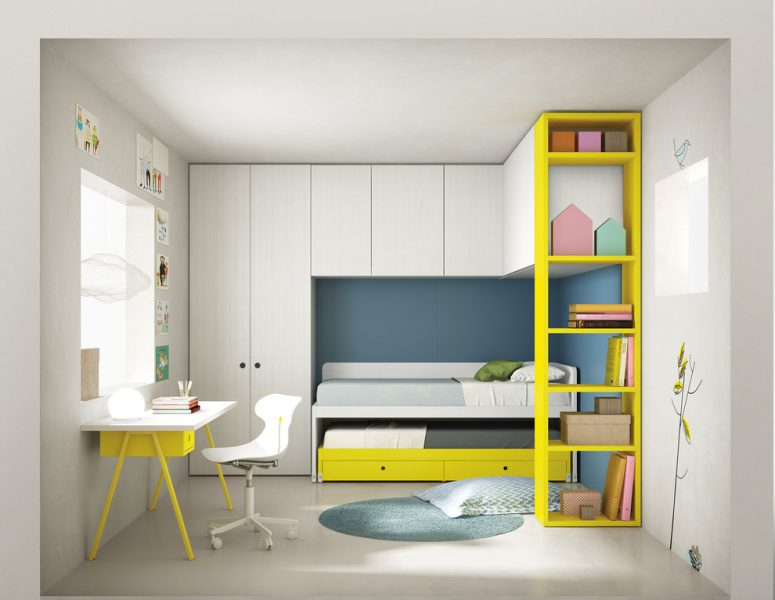 Contemporary Children Bedroom Furniture Could Combine Storage Styles In A  Relatively Compact Area