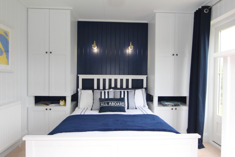 cupboards and shelves can squeeze the maximum storage out of a small space 57 Smart Bedroom Storage Ideas  DigsDigs