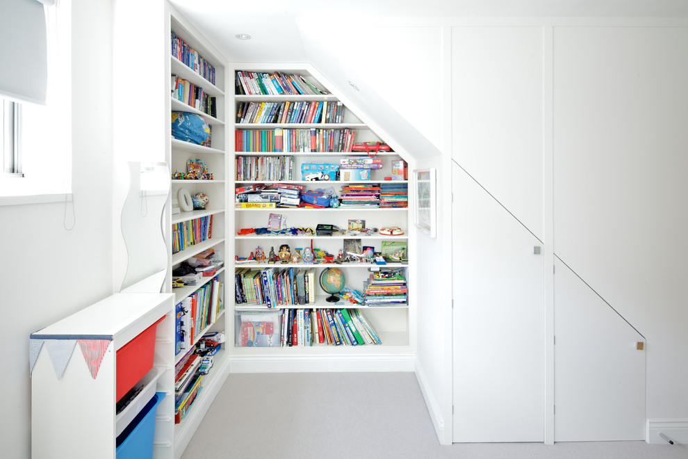designing a storage that could be built into any space is relatively easy for attic bedrooms